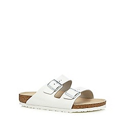 Birkenstock - White 'Arizona' sandals