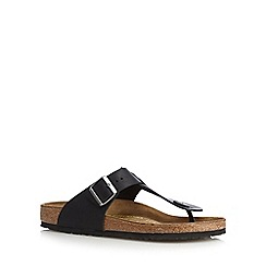 Birkenstock - Black 'Medina' leather buckle sandals