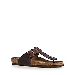 Birkenstock - Brown 'Medina' leather buckle sandals
