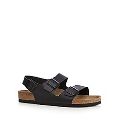 Birkenstock - Black 'Milano' buckle cork sandals