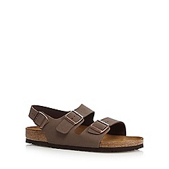 Birkenstock - Brown 'Milano' buckle cork sandals