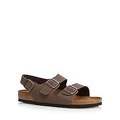Birkenstock - Brown 'Milano' buckle cork sandals