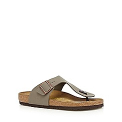 Birkenstock - Taupe 'Ramses' toe post sandals