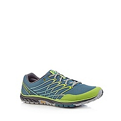 Merrell - Green perforated mesh running trainers