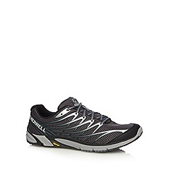Merrell - Black leather sport mesh trainers