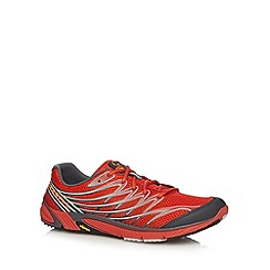 Merrell - Red leather sport mesh trainers