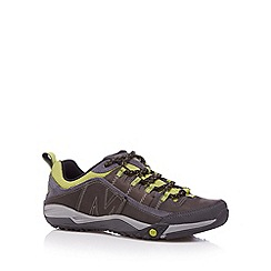 Merrell - Grey suede lime trim walking shoes