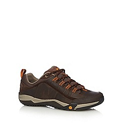 Merrell - Brown suede orange trims walking shoes