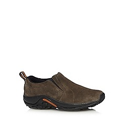 Merrell - Taupe suede slip ons