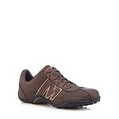 Merrell - Brown running leather trainers