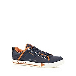 Merrell - Navy leather lace up sport trainers