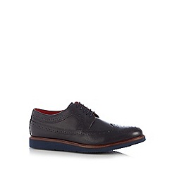 Base London - Navy leather lace up brogues