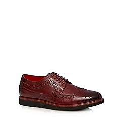 Base London - Dark red leather lace up brogues