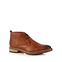 Base London - Tan leather lace up chukka boots