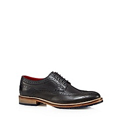 Base London - Navy leather classic brogues