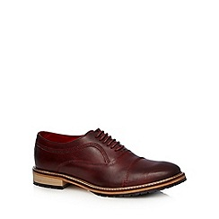 Base London - Dark red leather seamed toe cap shoes