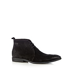 Base London - Black suede lace up chukka boots