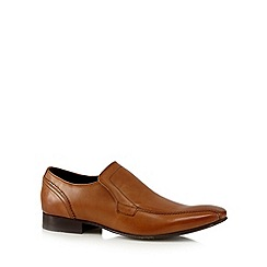 Base London - Tan leather slip on shoes