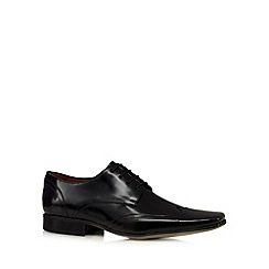 J by Jasper Conran - Designer black leather wing tip shoes