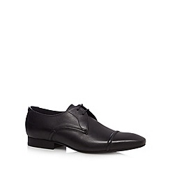 H By Hudson - Black leather lace up pointed shoes