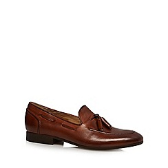 H By Hudson - Tan leather tassel slip on shoes