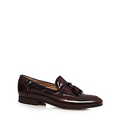 H By Hudson - Wine leather tassel slip on shoes