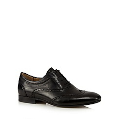 H By Hudson - Black leather oxford brogues