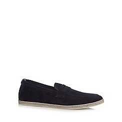 H By Hudson - Navy suede slip on shoes