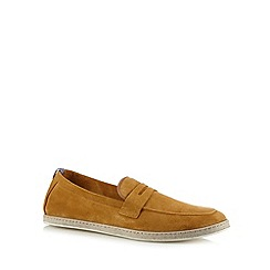 H By Hudson - Tan suede loafers