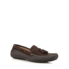 H By Hudson - Tan suede mix tassel slip on shoes