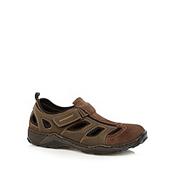Rieker - Brown leather strap shoes