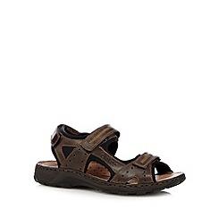Rieker - Brown sports strap rip tape sandals