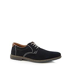 Rieker - Navy suede lace up shoes