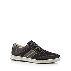 Rieker - Dark grey lace up plimsols