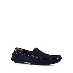 Loake - Navy suede boat shoes