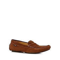 Loake - Tan suede boat shoes