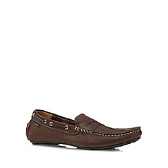 Loake - Brown leather boat shoes