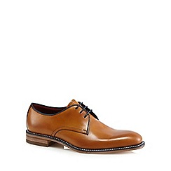 Loake - Big and tall tan leather lace up shoes