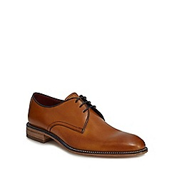 Loake - Big and tall brown leather lace up shoes
