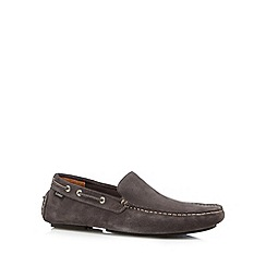 Loake - Grey suede boat shoes
