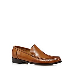 Loake - Tan leather moccasin slip ons