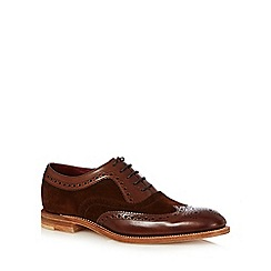Loake - Big and tall brown leather lace up brogues