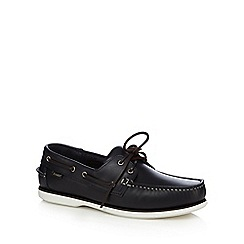 Loake - Navy leather boat shoes