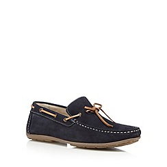 J by Jasper Conran - Designer navy suede slip on shoes