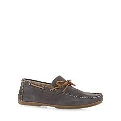 J by Jasper Conran - Designer grey suede slip on shoes