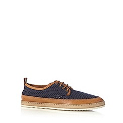 Hammond & Co. by Patrick Grant - Designer navy lace up mesh shoes