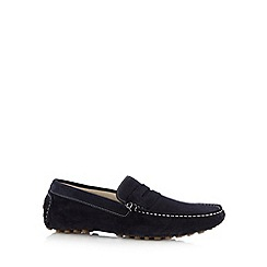 Hammond & Co. by Patrick Grant - Designer navy suede slip on shoes