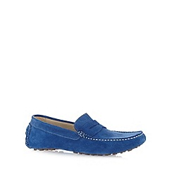 Hammond & Co. by Patrick Grant - Designer blue suede slip on shoes