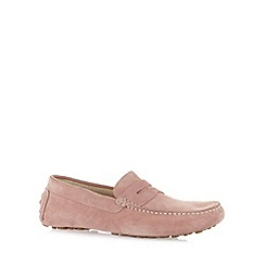 Hammond & Co. by Patrick Grant - Designer light pink suede slip on shoes