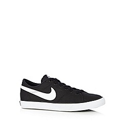Nike - Black 'Primo Court' canvas trainers